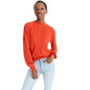 Demylee X J. Crew Balloon Sleeve Sweater XL NWT
